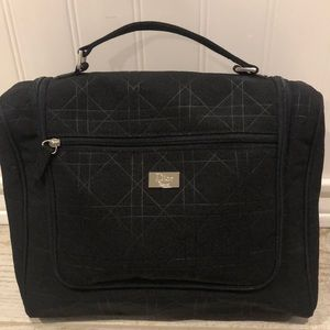 Dior Black Quilted Travel Toiletries/Makeup Bag